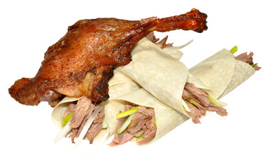 Chinese Aromatic Crispy Duck And Pancakes