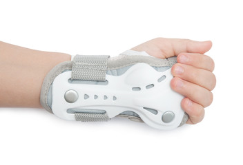 Hand with wrist suppor