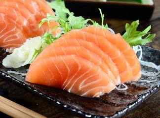 Salmon Sashimi - Japanese food