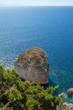 White cliffs , Corsica, France.