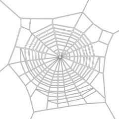 cartoon image of spider web