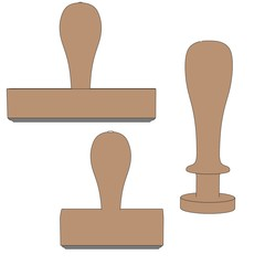 cartoon image of stamp tools