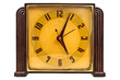 Bakelite art deco clock isolated on white