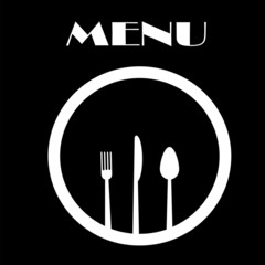 Simple Black and White Menu Cover