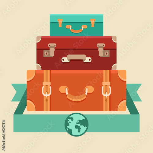 Vector travel concept in flat style