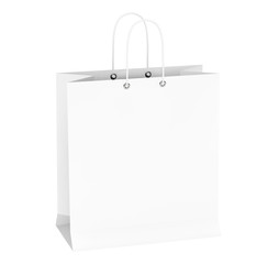Blank White Shopping Bag