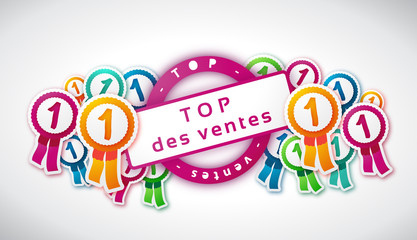 TOP des ventes - Illustration vectorielle