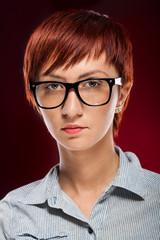 Attractive redhead gir