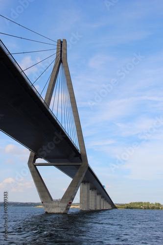 Leinwanddruck Bild Farö-Brücke in Dänemark