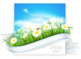 Fototapety Spring banner. Vector