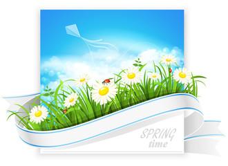 Spring banner. Vector
