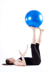 Woman during pilates