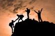 Leinwandbild Motiv birlik beraberlik & zirve mutluluğu