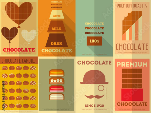 Retro Chocolate posters collection