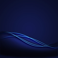 Blue Incandescent Background