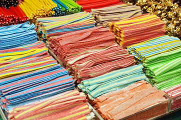 Many colorful candies