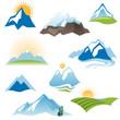 stylized landscape icons