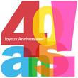 """Carte """"40 ANS ! JOYEUX ANNIVERSAIRE"""" (fête voeux félicitations)"""