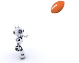 3D Render of a Robot playing American Football