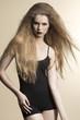 fashion girl with dark style