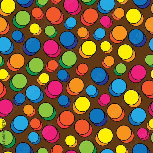 multicolored pills seamless pattern