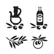 Olives icons. Vector format