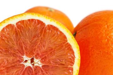 Sicilian oranges isolated on white
