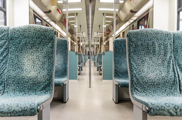 Underground metro Train interior - Modern Subway