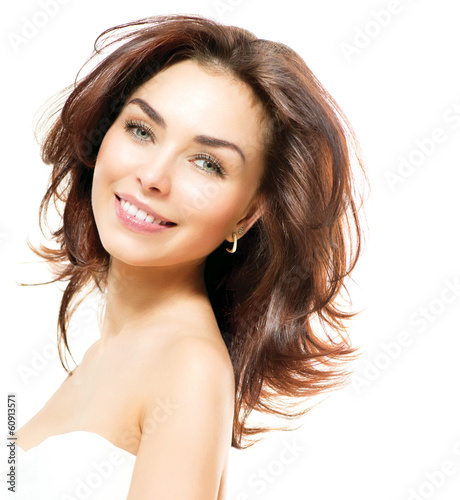 Beauty Woman. Beautiful Young Female Portrait