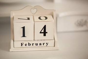February 14 vintage calendar