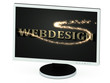 WEBDESIGN 3d inscription with luminous spark