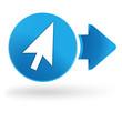 pointeur sur symbole web bleu