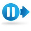 pause sur symbole web bleu