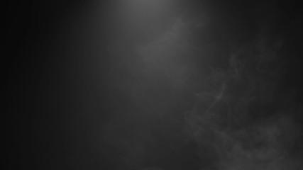 Medium Smoke Ambiance Effect Isolated on Black Background
