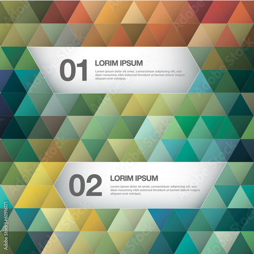 Modern business background triangle style Vector illustration.