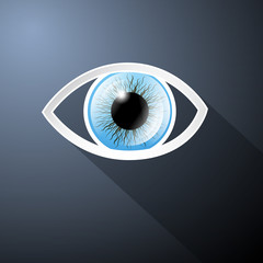 Abstract Paper Vector Blue Eye on Dark Blue Background