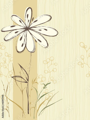 Seamless Floral Card Sand
