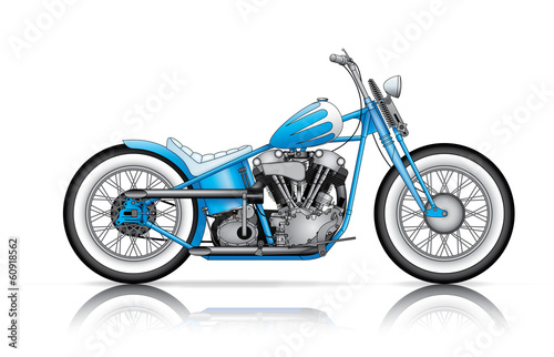 blue custom bobber