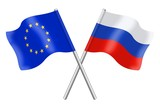 Flags: duet Europe and Russia