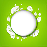 Abstract Green Leaves Banner