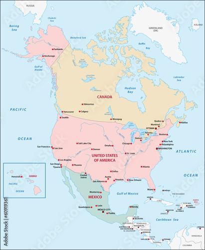 Nordamerika Karte