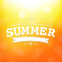 Summer Poster With Bokeh