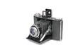 Leinwanddruck Bild - vintage bellows film camera circa 1940 isolated on white