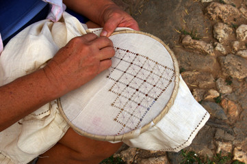 Broderie traditionnelle cubaine.