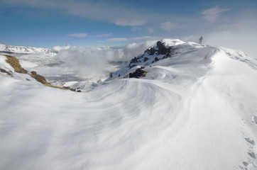 "Etna Park: The ""Schiena Dell'Asino"" Covered By Snow, Sicily"