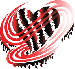 Valantine heart shape, The heart was cut for heartbroken