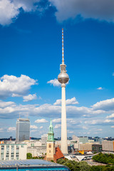 Fernsehturm television tower, Berlin views, Germany
