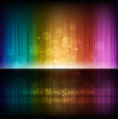 Abstract equalizer background. Multicolor rainbow wave.