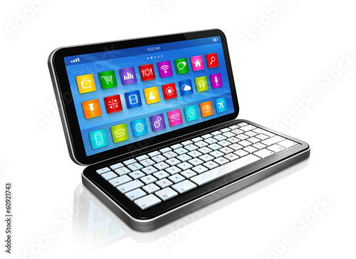 Smartphone, Netbook - apps icons interface