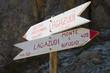 Wegweiser am Lagazuoi - Dolomiten - Alpen